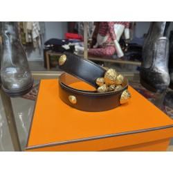 Ceinture Hermes en cuir box