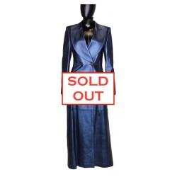 Manteau Escada cuir bleu...